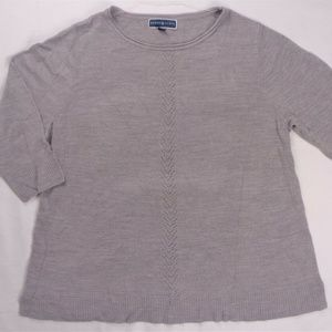 Karen Scott Womens Sweater Size 1X Gray Long